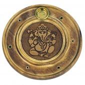 Runder Räucherstäbchenhalter - Ganesha