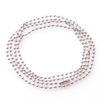 Kugel-Halskette aus Edelstahl