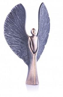 Engel der Kraft, Bronze Engel poliert