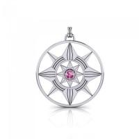 Schmuckanhänger Stern mit Mandala in Silber