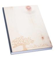 Notizbuch, Baum des Lebens, Lebensbaum, Zirbenholz, mondhaus-shop