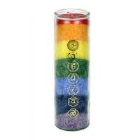 Chakra Regenbogen Duftkerze mit ätherischen Ölen