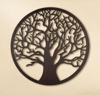 Rundes Wandrelief Baum des Lebens aus Metall