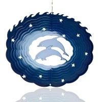Windspiel Delfin aus Metall für Garten und Balkon