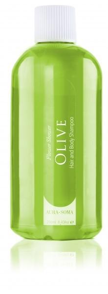 Aura-Soma Flower Shower Olivgrün Duschgel