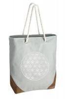 Tasche aus Kunstleder mit Printmotiv Blume des Lebens