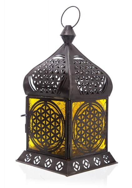 Orientalisches Licht Blume des Lebens, Eisen, Gelbglas