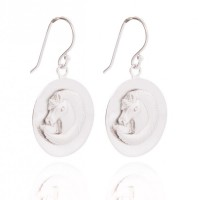 Ohranhänger Einhorn in Silber