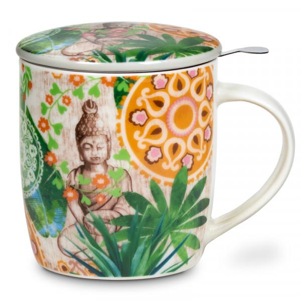 Teetasse Buddha im Paradies mit Teesieb