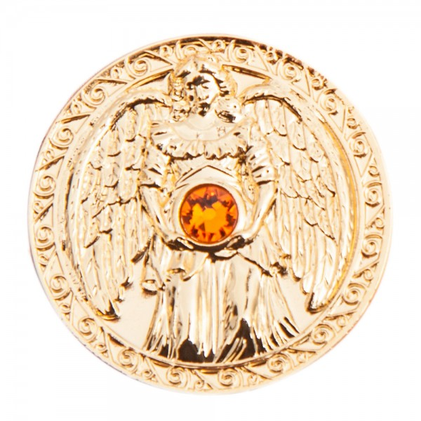 Engeltaler 24 Karat vergoldet mit Swarovski-Elemente, Glücksbringer Freude