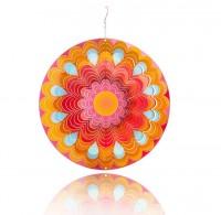 Windspiel Edelstahl Sonne Mandala für Garten und Balkon