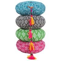 Meditationskissen Raja in Grün aus Baumwolle, ENGELmagazin