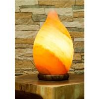 Salzkristalllampe Tropfen mit Holzsockel; ENGELmagazin