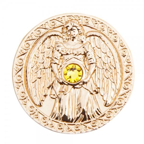 Engeltaler SCHUTZ Glücksbringer mit Swarovski Kristall 24 Karat vergoldet Feng Shui Möbel & Wohnen