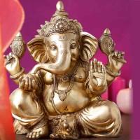 Statue des Ganesha, Messing; ENGELmagazin