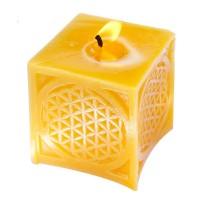 Bienenwachskerze Blume des Lebens, handgefertigt; ENGELmagazin