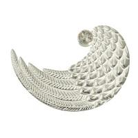 Schmuckanhänger Engelflügel mit Silber Topas