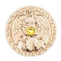 Engeltaler 24 Karat vergoldet mit Swarovski-Elemente, Glücksbringer Reichtum