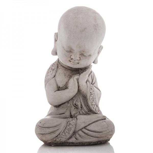 Steinguss-Figur Kleiner Mönch für den Garten