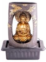 Feng Shui Zimmerbrunnen Buddha mit Beleuchtung, Adapter und Pumpe