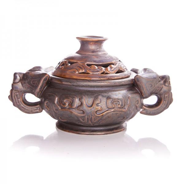 Chinesisches Räuchergefäß Cai, Keramik