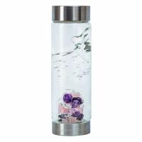 Trinkwasserflasche VitaJuwel ViA Love Rosenquarz, Granat, Bergkristall, Edelsteinwasser, Engelmagazin