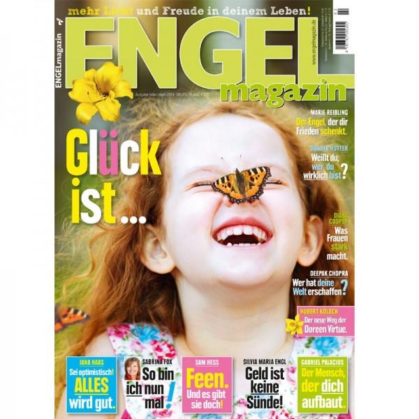 Engelmagazin März und April 2019 mit Autoren wie Sabrina Fax, Jana Haas, Sam Hess, Diana Cooper, Deepak Chopra und vielen mehr