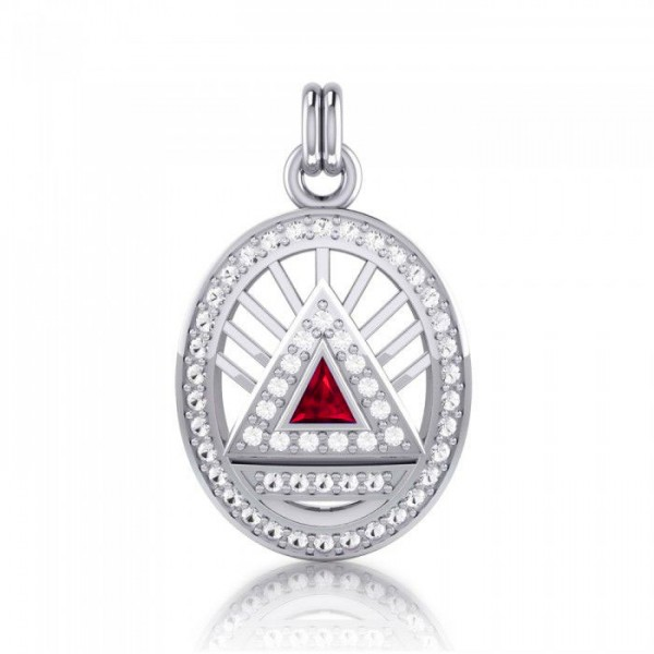 Triangel Power Anhänger Rubin Edelstein