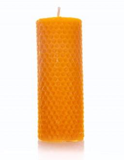 Bienenwachskerze Wabenmuster