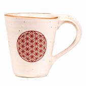 Teebecher Kaffeebecher Blume des Lebens Keramik